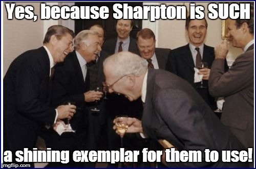Yes, because Sharpton is SUCH a shining exemplar for them to use! | made w/ Imgflip meme maker