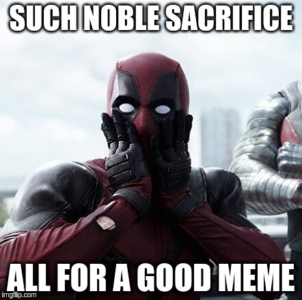 SUCH NOBLE SACRIFICE ALL FOR A GOOD MEME | made w/ Imgflip meme maker