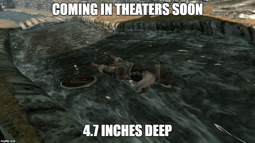 Is This Shark Week Material? Maybe. | COMING IN THEATERS SOON 4.7 INCHES DEEP | image tagged in probably shark week,skrimm,drowning,shallow | made w/ Imgflip meme maker