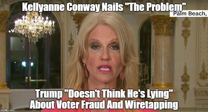 "Kellyanne Conway Nails ""The Problem"" Trump ""Doesn't Think He's Lying"" About Voter Fraud And Wiretapping 