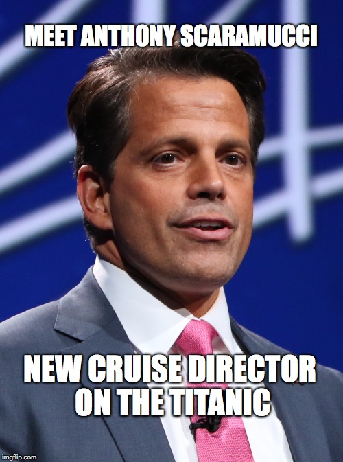 H.M.S. Titanic | MEET ANTHONY SCARAMUCCI NEW CRUISE DIRECTOR ON THE TITANIC | image tagged in hms titanic,anthony scaramucci,cruise director,bobcrespodotcom,white house press secretary | made w/ Imgflip meme maker