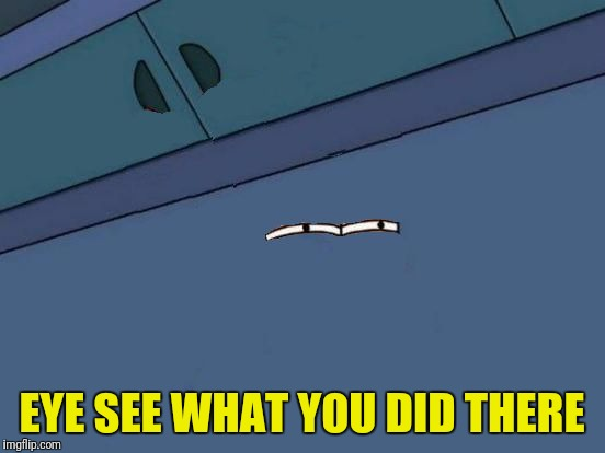 Futurama Fry Eyes | EYE SEE WHAT YOU DID THERE | image tagged in futurama fry eyes | made w/ Imgflip meme maker