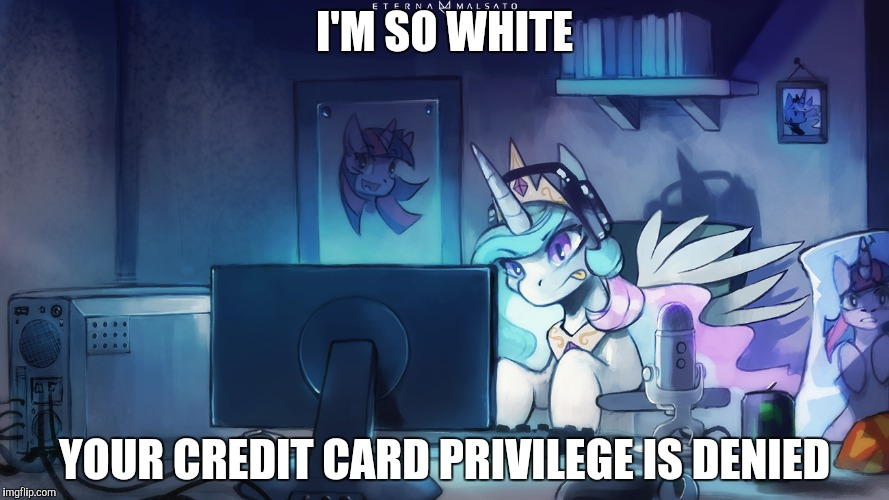 I'M SO WHITE YOUR CREDIT CARD PRIVILEGE IS DENIED | made w/ Imgflip meme maker