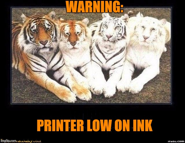 Warning: printer low on ink. Tiger Week, a TigerLegend1046 event ...