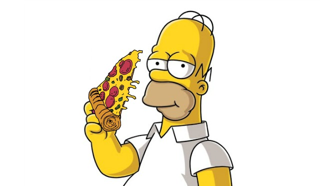 homer pizza blank template imgflip