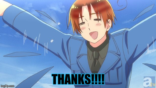 Aph Italy | THANKS!!!! | image tagged in aph italy | made w/ Imgflip meme maker