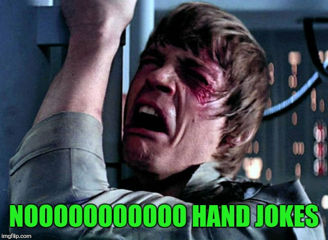 Nooo | NOOOOOOOOOOO HAND JOKES | image tagged in nooo | made w/ Imgflip meme maker