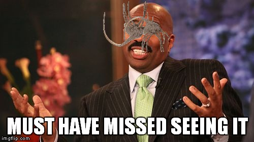 Steve Harvey Meme | MUST HAVE MISSED SEEING IT | image tagged in memes,steve harvey | made w/ Imgflip meme maker