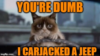YOU'RE DUMB I CARJACKED A JEEP | made w/ Imgflip meme maker
