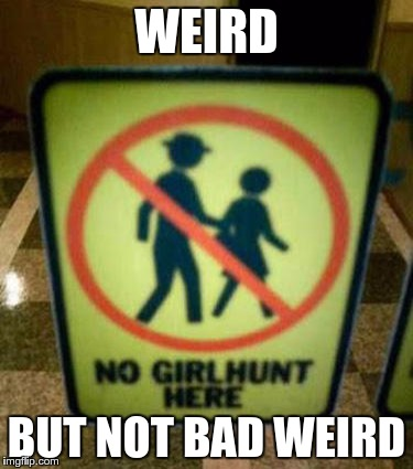 Try to explain this Public Sign to me… |  WEIRD; BUT NOT BAD WEIRD | image tagged in memes,funny,weird,good,bad | made w/ Imgflip meme maker