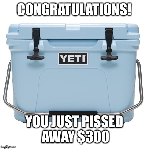 CONGRATULATIONS! YOU JUST PISSED AWAY $300 | image tagged in congratulations | made w/ Imgflip meme maker