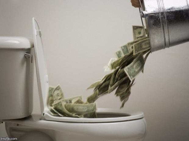 Money down toilet, memes | . | image tagged in money down toilet,memes | made w/ Imgflip meme maker