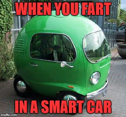 WHEN YOU FART IN A SMART CAR | image tagged in smart car | made w/ Imgflip meme maker