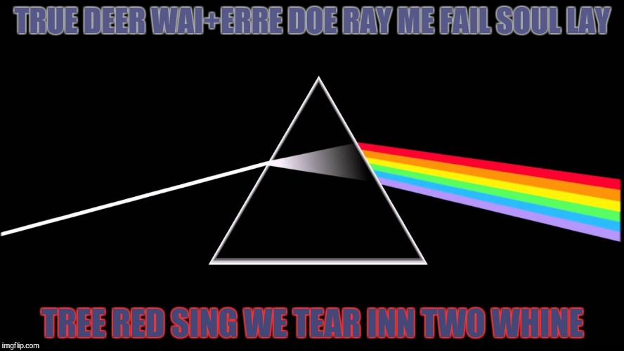 TRUE DEER WAI+ERRE DOE RAY ME FAIL SOUL LAY TREE RED SING WE TEAR INN TWO WHINE | made w/ Imgflip meme maker