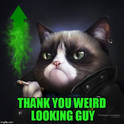THANK YOU WEIRD LOOKING GUY | made w/ Imgflip meme maker