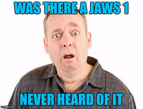 WAS THERE A JAWS 1 NEVER HEARD OF IT | made w/ Imgflip meme maker