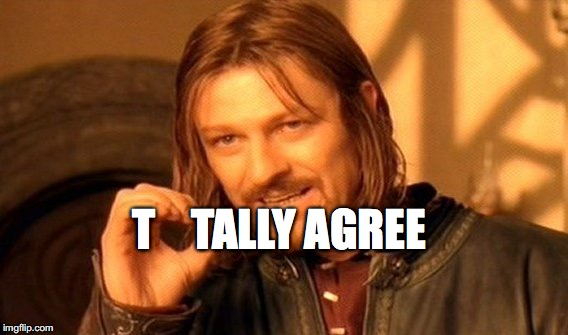 One Does Not Simply Meme | T    TALLY AGREE | image tagged in memes,one does not simply | made w/ Imgflip meme maker