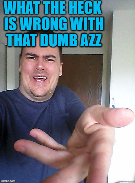 wow! | WHAT THE HECK IS WRONG WITH THAT DUMB AZZ | image tagged in wow | made w/ Imgflip meme maker