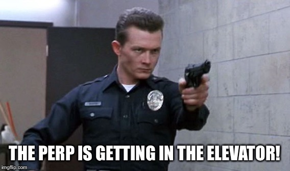 THE PERP IS GETTING IN THE ELEVATOR! | made w/ Imgflip meme maker