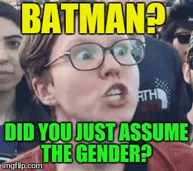 BATMAN? DID YOU JUST ASSUME THE GENDER? | made w/ Imgflip meme maker