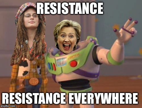 RESISTANCE RESISTANCE EVERYWHERE | made w/ Imgflip meme maker
