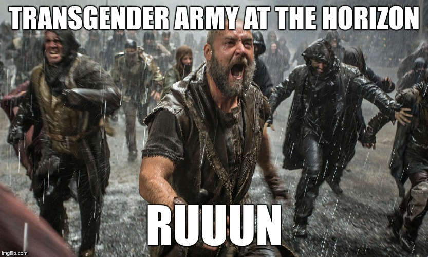 Transgender Army | TRANSGENDER ARMY AT THE HORIZON RUUUN | image tagged in memes,funny,army,transgender | made w/ Imgflip meme maker
