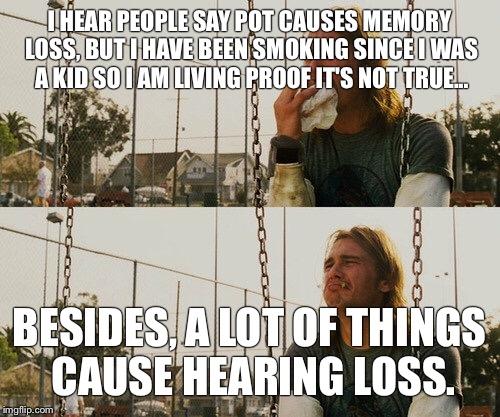 Image result for memory loss from pot meme
