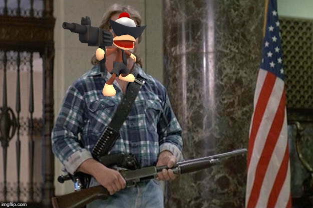 Ape escape took over they live | image tagged in they live,monkey,ps1,sunglasses,machine gun | made w/ Imgflip meme maker
