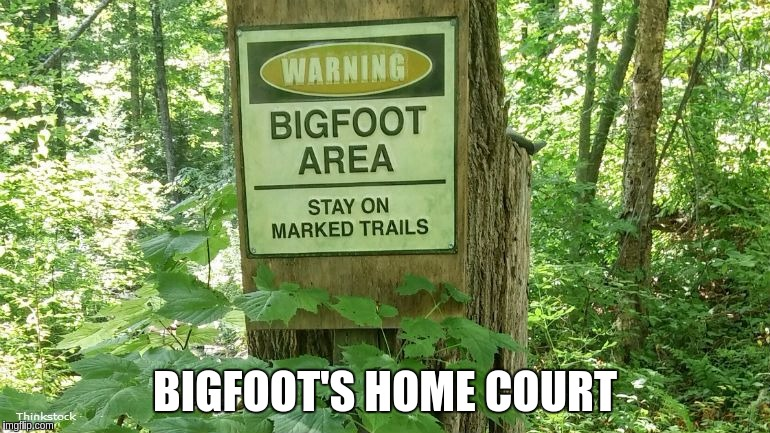 BIGFOOT'S HOME COURT | made w/ Imgflip meme maker