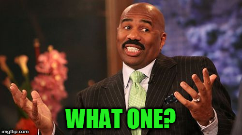 Steve Harvey Meme | WHAT ONE? | image tagged in memes,steve harvey | made w/ Imgflip meme maker