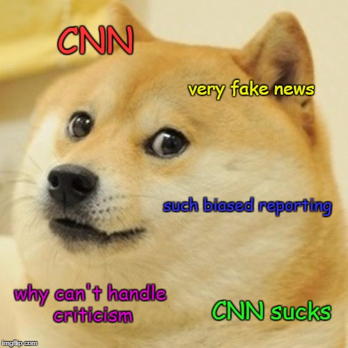 Gotta Make At Least One More CNN Meme To End The Month! | CNN very fake news such biased reporting why can't handle criticism CNN sucks | image tagged in memes,doge,cnn | made w/ Imgflip meme maker