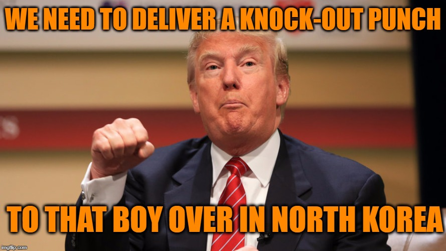 WE NEED TO DELIVER A KNOCK-OUT PUNCH TO THAT BOY OVER IN NORTH KOREA | made w/ Imgflip meme maker