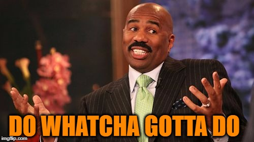 Steve Harvey Meme | DO WHATCHA GOTTA DO | image tagged in memes,steve harvey | made w/ Imgflip meme maker