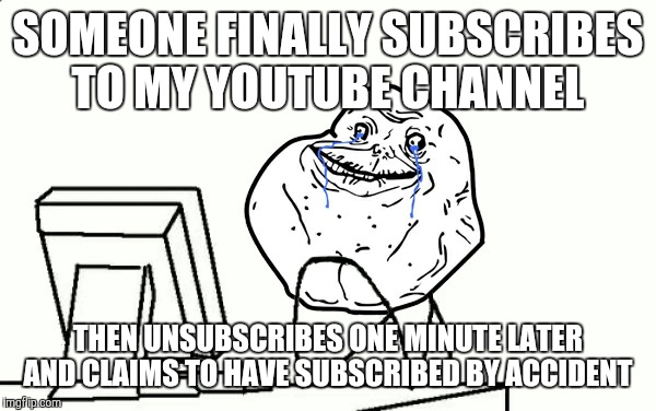 "At least said ""subscriber"" left a comment on one of his videos. Which is apparently a middle finger emoji. 