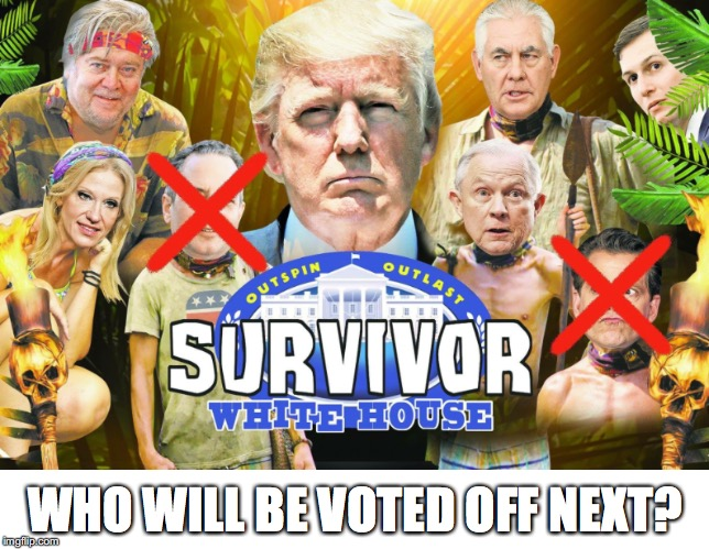 Who's Next? | WHO WILL BE VOTED OFF NEXT? | image tagged in donald trump | made w/ Imgflip meme maker
