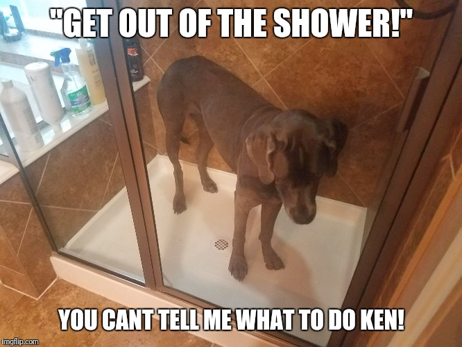 """GET OUT OF THE SHOWER!"" YOU CANT TELL ME WHAT TO DO KEN! 