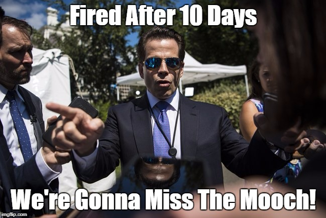 Fired After 10 Days We're Gonna Miss The Mooch! | made w/ Imgflip meme maker