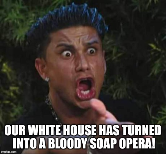 OUR WHITE HOUSE HAS TURNED INTO A BLOODY SOAP OPERA! | made w/ Imgflip meme maker