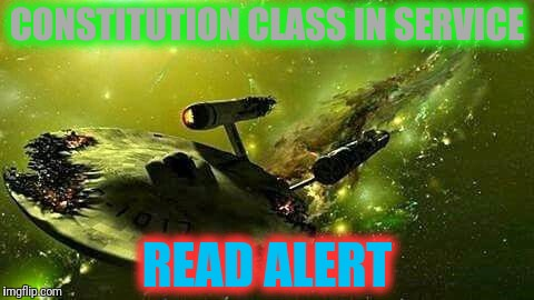 CONSTITUTION CLASS IN SERVICE READ ALERT | made w/ Imgflip meme maker