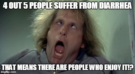 Scary Harry Meme | 4 OUT 5 PEOPLE SUFFER FROM DIARRHEA THAT MEANS THERE ARE PEOPLE WHO ENJOY IT!? | image tagged in memes,scary harry | made w/ Imgflip meme maker
