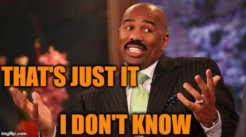 Steve Harvey Meme | THAT'S JUST IT I DON'T KNOW | image tagged in memes,steve harvey | made w/ Imgflip meme maker