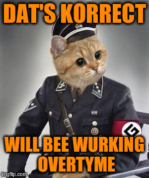 DAT'S KORRECT WILL BEE WURKING OVERTYME | made w/ Imgflip meme maker