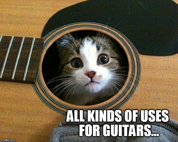 ALL KINDS OF USES FOR GUITARS... | made w/ Imgflip meme maker