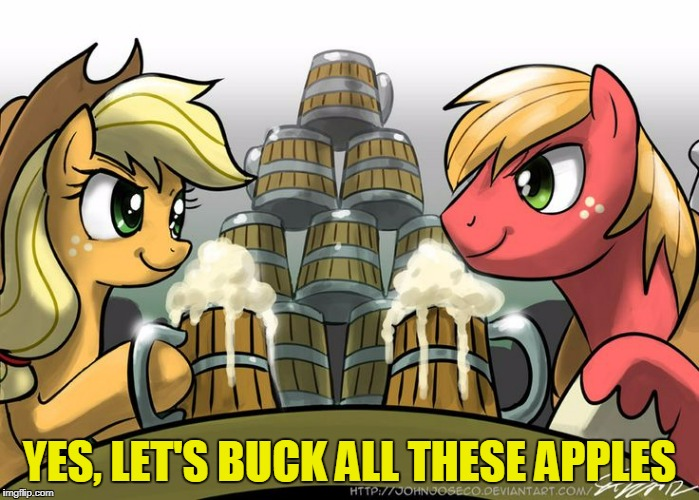 YES, LET'S BUCK ALL THESE APPLES | made w/ Imgflip meme maker