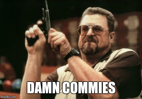 Am I The Only One Around Here Meme | DAMN COMMIES | image tagged in memes,am i the only one around here | made w/ Imgflip meme maker