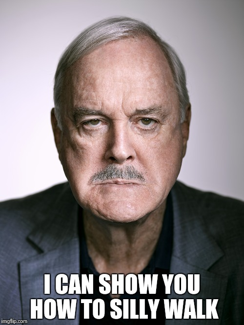 John Cleese | I CAN SHOW YOU HOW TO SILLY WALK | image tagged in john cleese | made w/ Imgflip meme maker