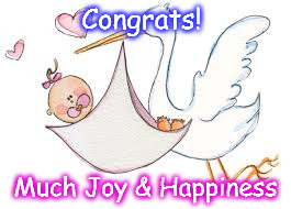 Congrats for Baby Girl | Congrats! Much Joy & Happiness | image tagged in shedoh | made w/ Imgflip meme maker