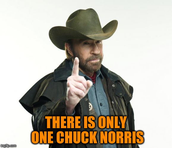 THERE IS ONLY ONE CHUCK NORRIS | made w/ Imgflip meme maker