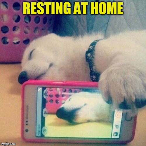 RESTING AT HOME | made w/ Imgflip meme maker