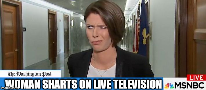 Never Trust a Fart | WOMAN SHARTS ON LIVE TELEVISION | image tagged in confused reporter,dank memes,shart,maga,fake news,msnbc sucks | made w/ Imgflip meme maker